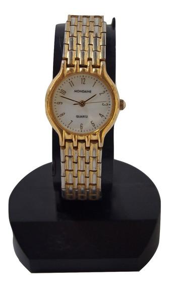 Relógio De Pulso Feminino Mondaine Dourado