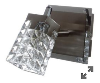 Spot Halógeno Vidrio Metal Cromo G9 1 Luz 40w