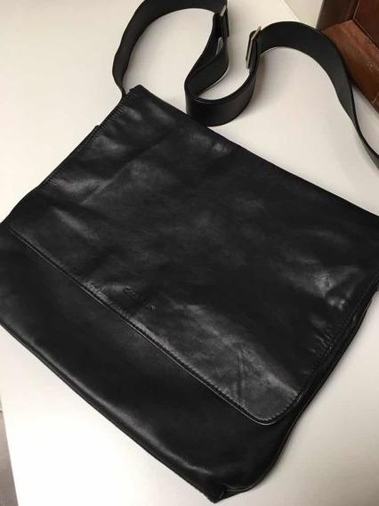 Pasta De Couro Cole Haan Black Messenger Bag