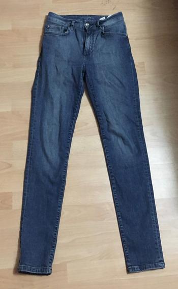 Padrisimo Pantalon Zara Skinny Mezclilla Tiro Alto 26!!
