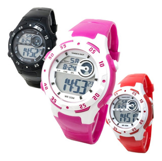 Reloj Knock Out Niño Digital Luz Sumergible Alarma M7148