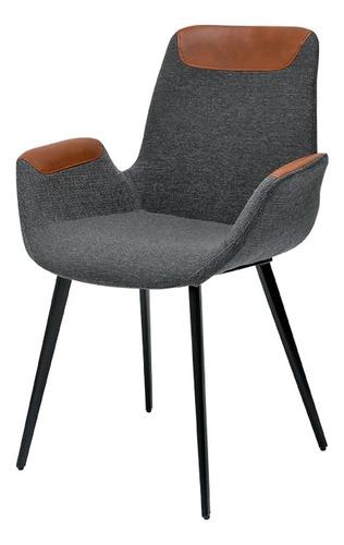 Imagem 1 de 5 de Cadeira Luiza Cinza Design Sala Cozinha Jantar