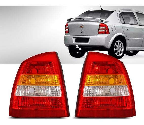 Par Lanterna Traseira Astra Sedan 99 2000 2001 2002 Tricolor
