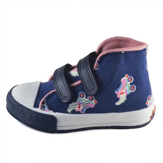 Bota Nena Abrojo Estampado Patines Small Shoes Envío Gratis