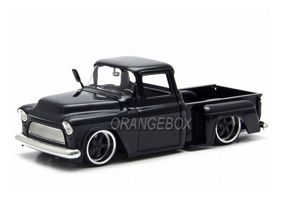 Chevy Stepside 1955 Just Trucks Jada Toys 1:24 Preto