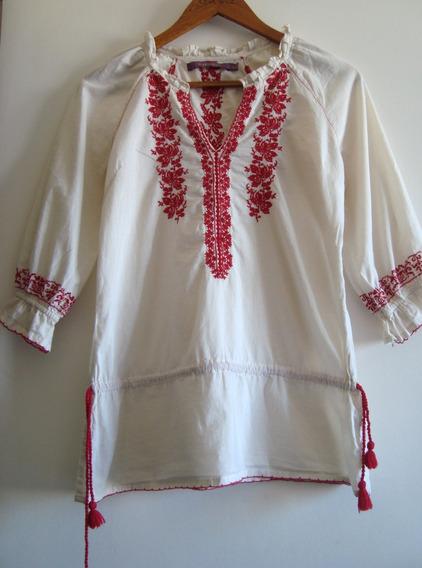 Tunica Rapsodia Bordado Mexicano Modelo Gretel Camisa