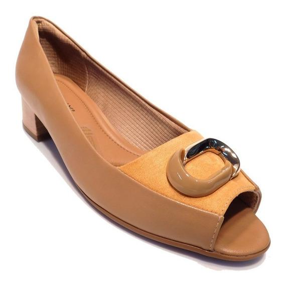 Sapato Feminino Peep Toe Piccadilly - Ref 114027