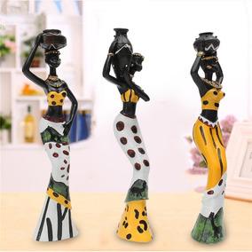 Estatuetas Trio De Africanas Em Resina