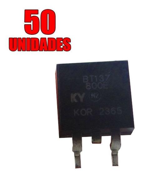 50x Transistor - Triac Montado - Bt137-800e To-263 - Smd