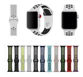 eec09908d67c9 Pulseira Silicone Furo Nike Para Apple Watch 1,2,3 38mm/42mm