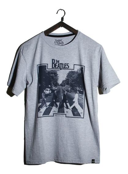 Remera Banda De Rock The Beatles Manga Corta Abbey Road 1969