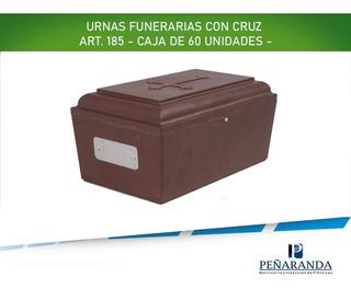 Urnas Funerarias Para Cremaciones. Caja 60 Unidades Con Cruz