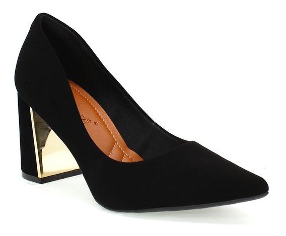 Sapato Feminino Bico Fino Palatino Preto Bebecê