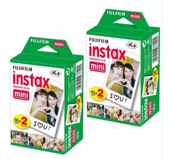 Combo Filme Instax Mini 40 Fotos Instantaneas