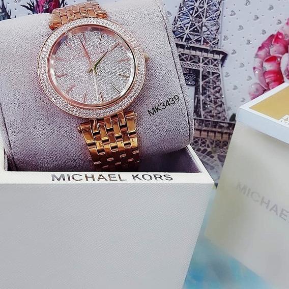 Relógio Michael Kors Mk3439 Rose Cravejado Feminino - Darci