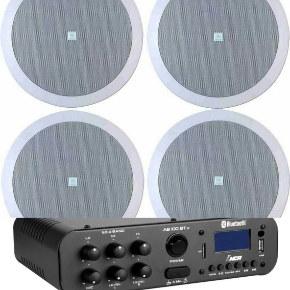 Amplificador Bluetooth Ab100btst+ 4 Arandelas Jbl 6pol 6co2r