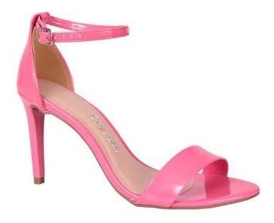 Sandália Salto Alto Fino Nude Preta Rosa Via Marte Crysalis