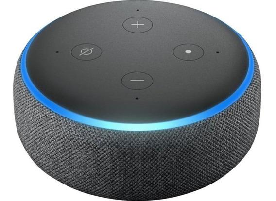 Smart Speaker Amazon Alexa Echo Dot 3 Cinza Português Novo