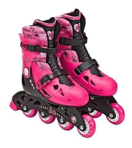 Patins Ajustaveis Barbie 37 A 40 - Fun - Bonellihq X20