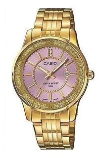 Reloj Casio De Mujer, Rosa Brillante O Celeste, Sumergible.