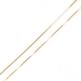 Corrente Em Ouro 18k Veneziana 45cm 1,7gr