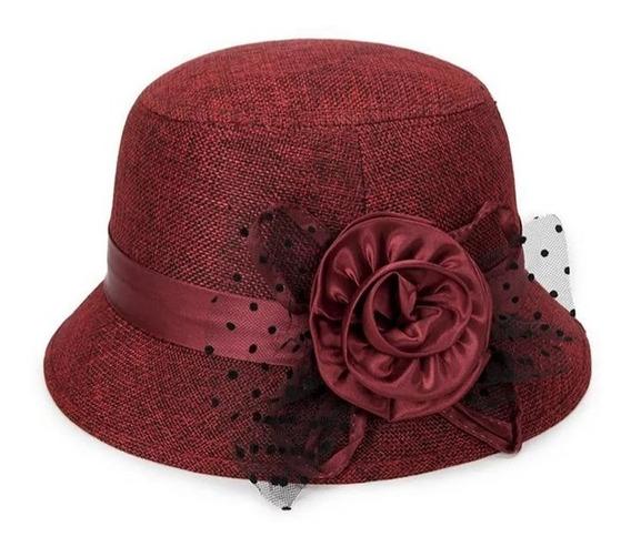 Sombrero Mujer Elegante Estilo Dama Antigua