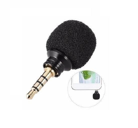 Mini Microfone Estéreo Para Gopro Celular Câmeras Gravador