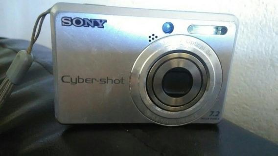 Câmera Fcybe-shot Fotográfica Digital Prata 7.2 Mp