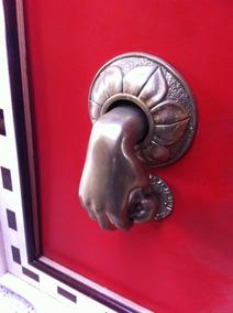 Aldrava - Batedor De Porta Em Bronze Maciço