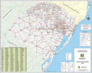 Mapa Rodoviário Rio Grande Do Sul 65x100cm Não É Raspadinha