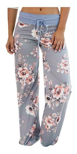 Las Mujeres De La Moda Sueltos Pantalones De Impresion Flor Mercado Libre