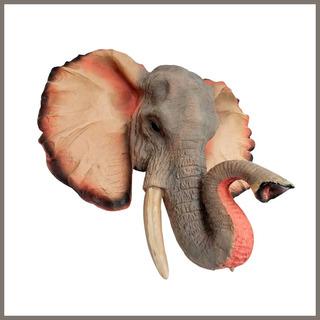 Cabeza Decorativa Elefante Resina