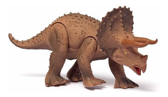 Brinquedo Dinossauro Triceratops Dino World Cotiplas