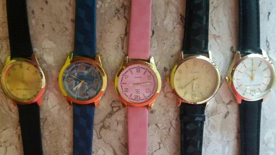 Relógio Fem/masc, Baratos, Bons E Bonitos...kit C/15..oferta