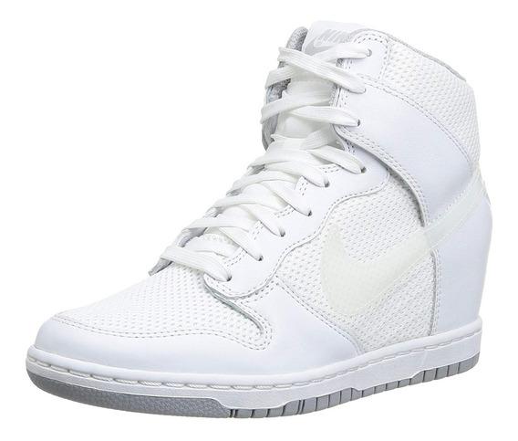 Tênis Nike Wmns Dunk Sky Hi Essential Triple White Feminino