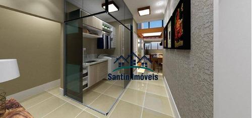 Apartamento Com 2 Dormitórios À Venda, 55 M² Por R$ 310.000,00 - Utinga - Santo André/sp - Ap2007