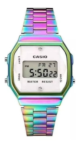 Reloj Casio Tornasol Blanco A168 Retro Vintage