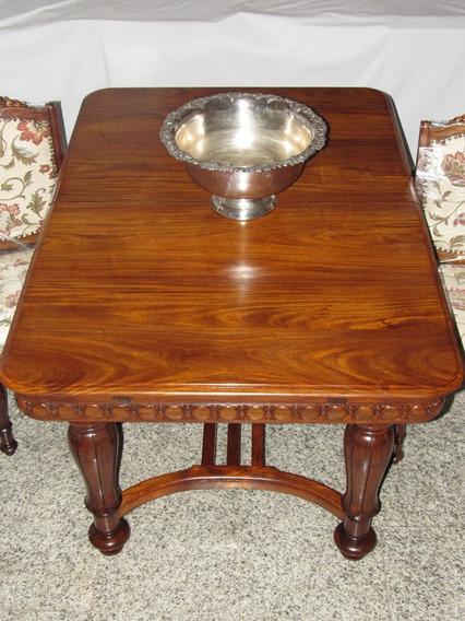 Mesa Jantar 8 Cadeiras Madeira Vinhático Luis Xvi