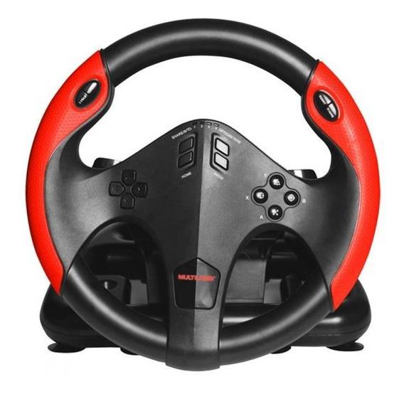Volante Corrida Gamer Com Marcha E Pedal Multilaser- Js087