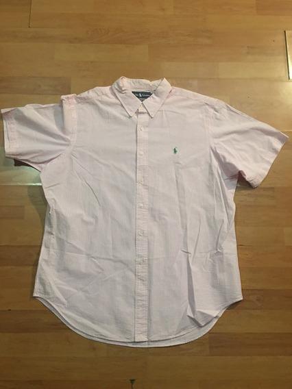 Camisa Polo Ralph Lauren Original Xl Eg Rosa Prl Casual Nice