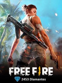 Free Fire Garena Freefire 2453 Diamantes Recarga Na Conta