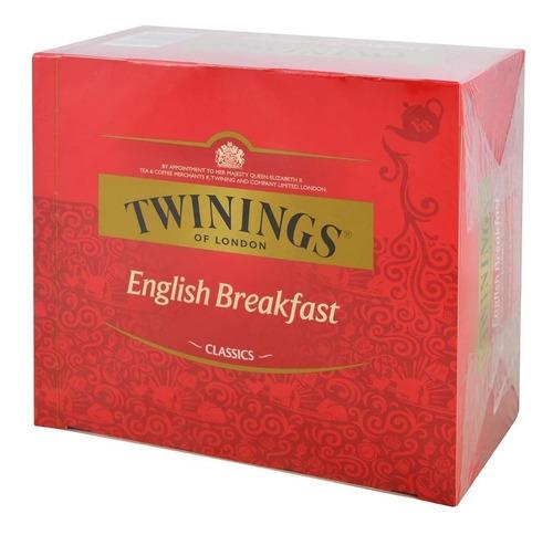Té Twinings English Breakfast Té Negro 50 Saquitos