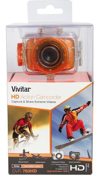 Câmera Filmadora De Ação Hd Acessórios Vivitar -dvr783hd.lar