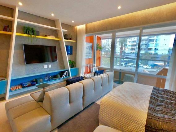 Apartamento Com 1 Dormitório À Venda, 42 M² Por R$ 420.000,00 - Campo Belo - São Paulo/sp - Ap1008