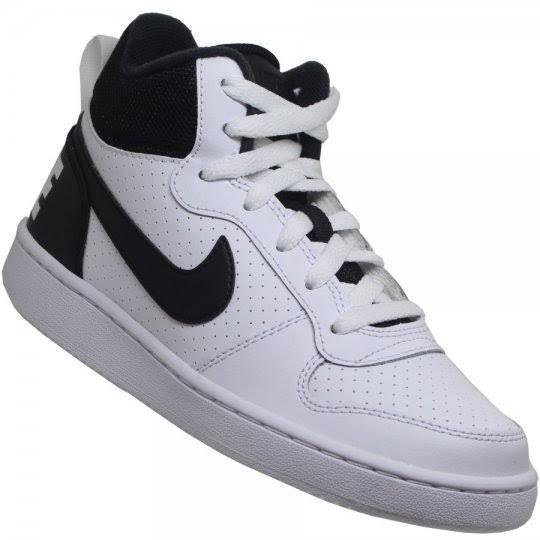Tenis Masc Cano Longo Nike Court Borough Mid Bco/pto 39