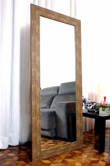 Espelho De Chão Grande 0,68 X 1,68 Moldura Laminada