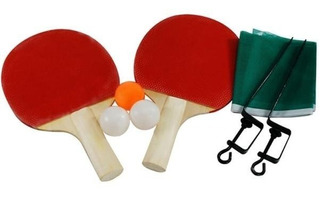 Kit Ping Pong 2 Raquetes 3 Bolas 1 Suporte E Rede