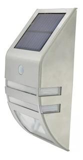 Luz Led Solar Jardin Caminos Sensor Movimiento Y Crepuscular