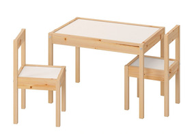 Ikea Latt Juego De Mesa Y Par De Sillas Para Niños