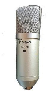 Micrófono Condenser Cardiode Parquer Ar-16 + Estuche Y Araña